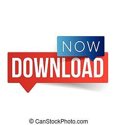 Download Now button speech bubble
