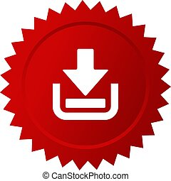 Download now red sticker