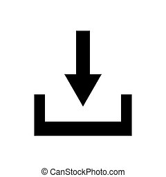 Download outline icon isolated. Symbol, logo illustration for mobile concept and web design.
