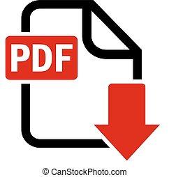 download, pdf, botão, arquivo