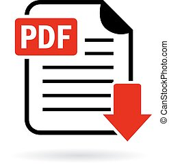 download, pdf, documento, ícone
