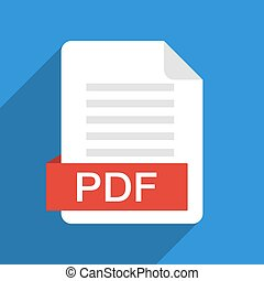 Download pdf file button isolated on white background vector