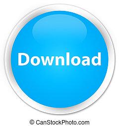 Download premium cyan blue round button