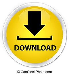 Download premium yellow round button