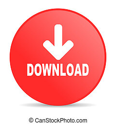 download red circle web glossy icon