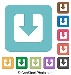 Download rounded square flat icons