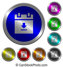 download schedule data luminous coin-like round color buttons