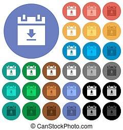 download schedule data round flat multi colored icons -...