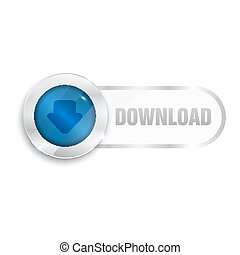 download sign icon glass surfise button