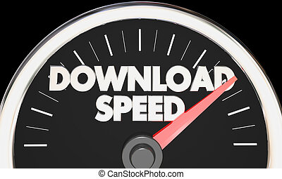 Download Speed Gauge Fast Internet Rate Speedometer 3d Illustration