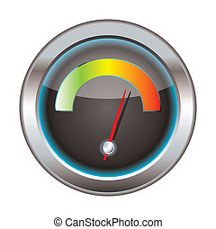 Download speedometer - Internet or web download icon with...