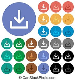 Download symbol round flat multi colored icons