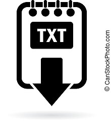 Download text file icon