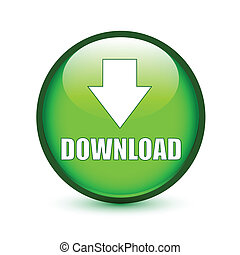 Download text with arrow down sign on green button