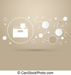 download to hdd icon on a brown background with elegant style and modern design infographic.
