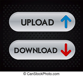 download, upload, iconerne
