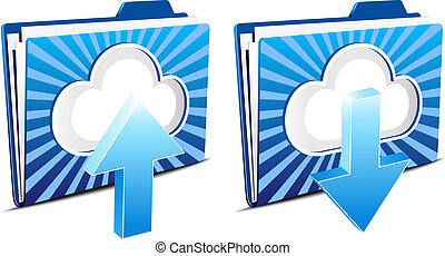 download, upload, sky, computing