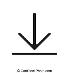 Download vector icon, install symbol. Modern, simple flat vector illustration for web site or mobile app eps10