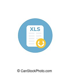 download xls document file vector icon
