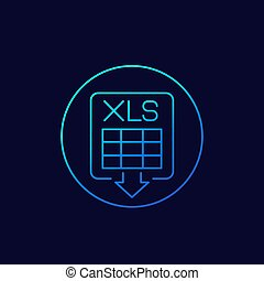 download xls document linear icon