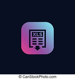 download xls document vector icon