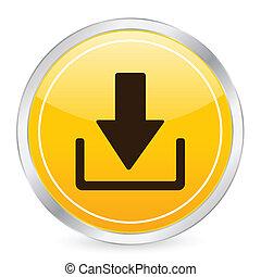 download yellow circle icon