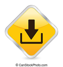 download yellow square icon