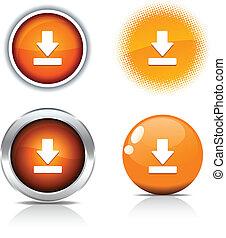 downloaden, buttons.