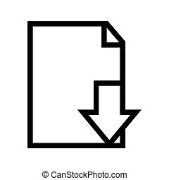 downloaden, document, bestand, pictogram