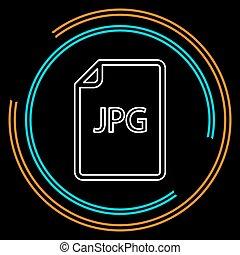 downloaden, jpg, document, pictogram, -, vector, bestand, formaat