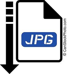 downloaden, jpg, symbool