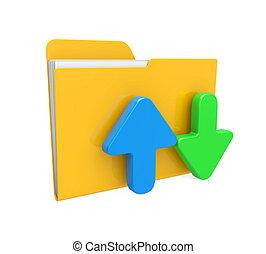 downloaden, map, uploaden, pictogram