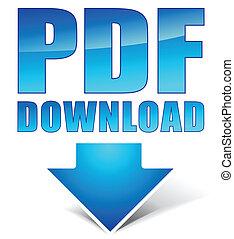 downloaden, pdf, pictogram