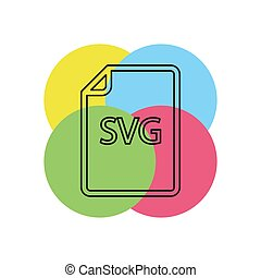 downloaden, svg, document, pictogram, -, vector, bestand, formaat