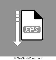 downloaden, symbool,  EPS, bestand