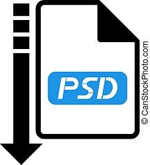 downloaden, symbool, psd