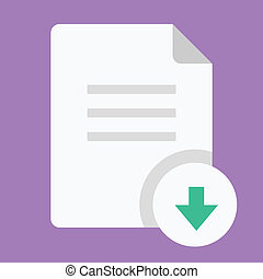 downloaden, vector, document, pictogram