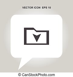 downloaden, vector, pictogram