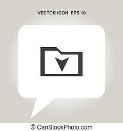 downloaden, vector, pictogram