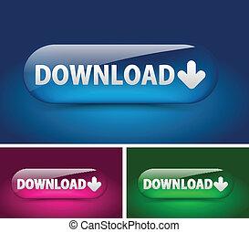 downloaden, web, pictogram