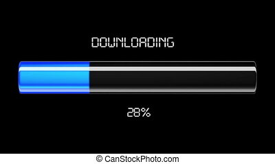 Downloading and uploading process.