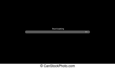 Downloading black - Loading bar