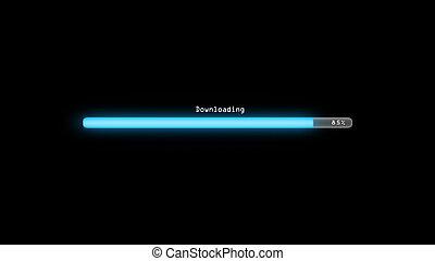 Downloading dark background - Loading bar