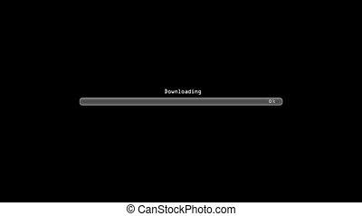 Downloading error black - Loading bar
