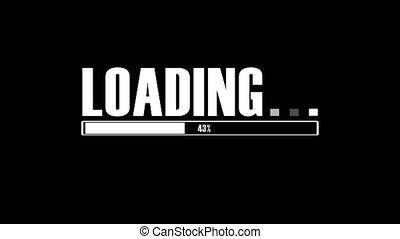 Downloading progress bar. Percent indicator. Blinking ...