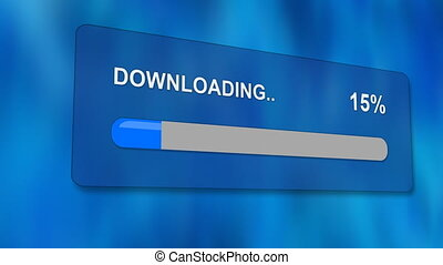 downloading progress bar with luma