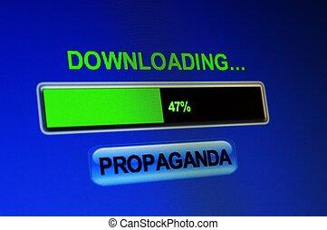 downloading, propaganda