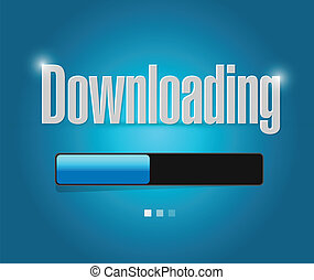 downloading search bar illustration design