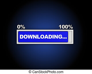downloading - 3d illustration of downloading progress...
