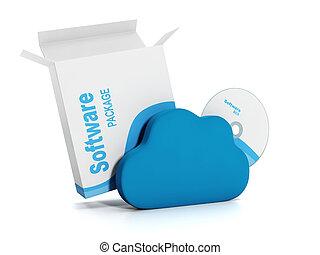 downloading, technology., abbildung, genehmigt, internet, 3d...